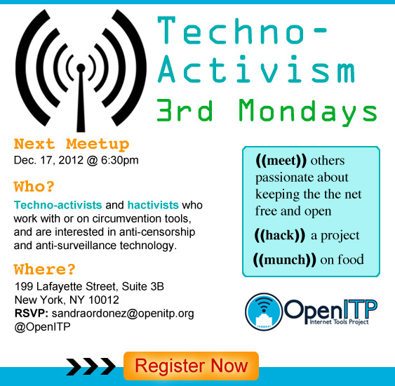 OpenITP NYC Techno-Activism 3rd Mondays