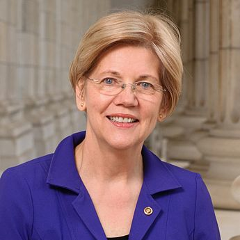 Portrait of Elizabeth Warren.
